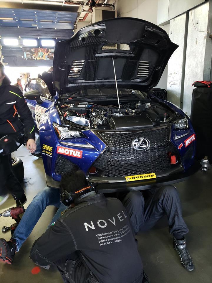 VLN Season Opener at Nurburgring NOVEL RC F pitting with Toyota A90
