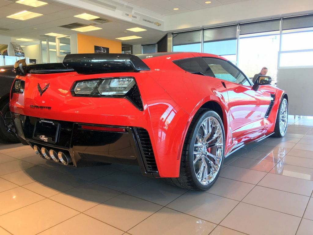 2019 Corvette Z06 Torch Red Black Int A8 2lz Stage 2