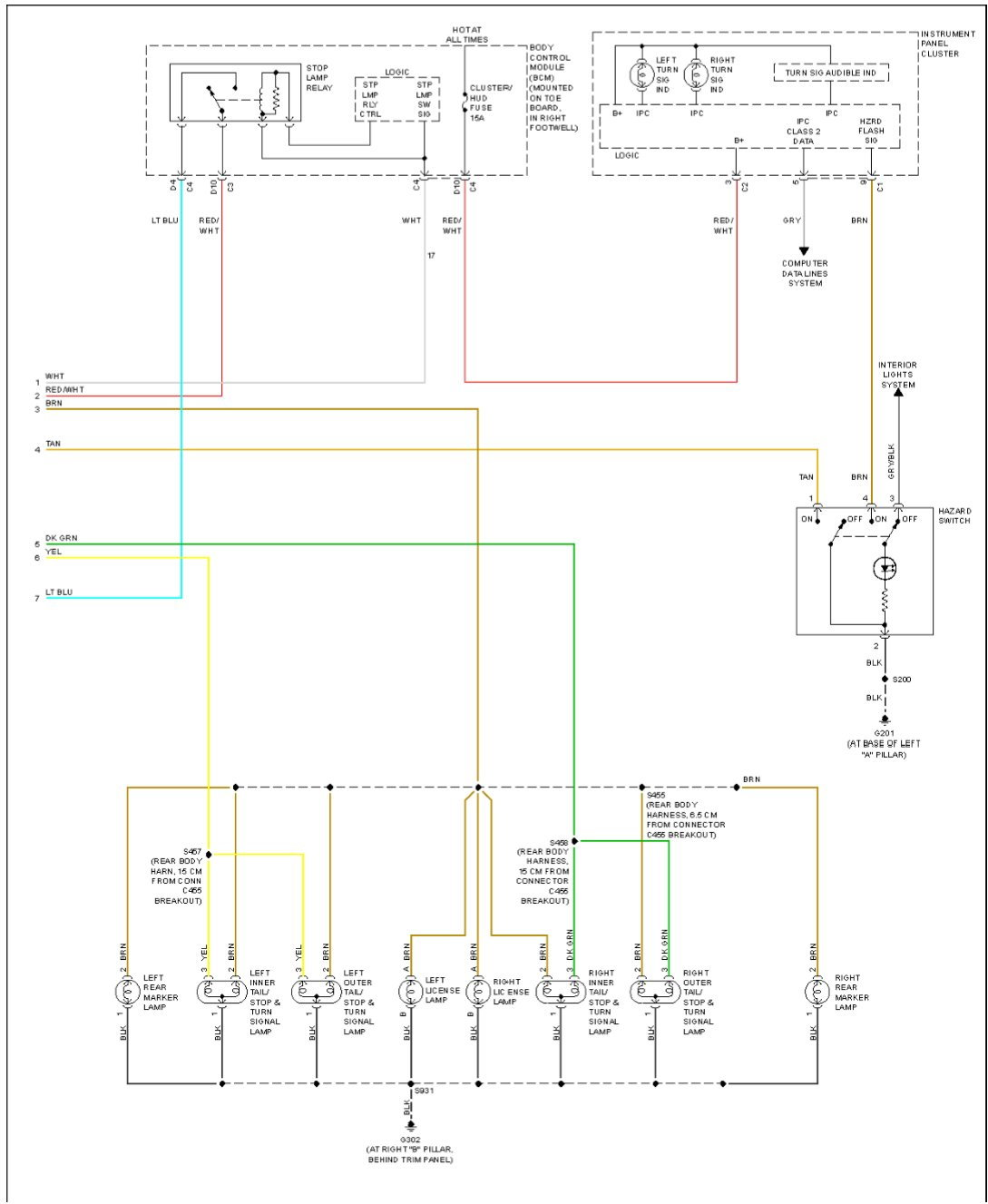 2006 tail light wiring diagram needed - CorvetteForum ...