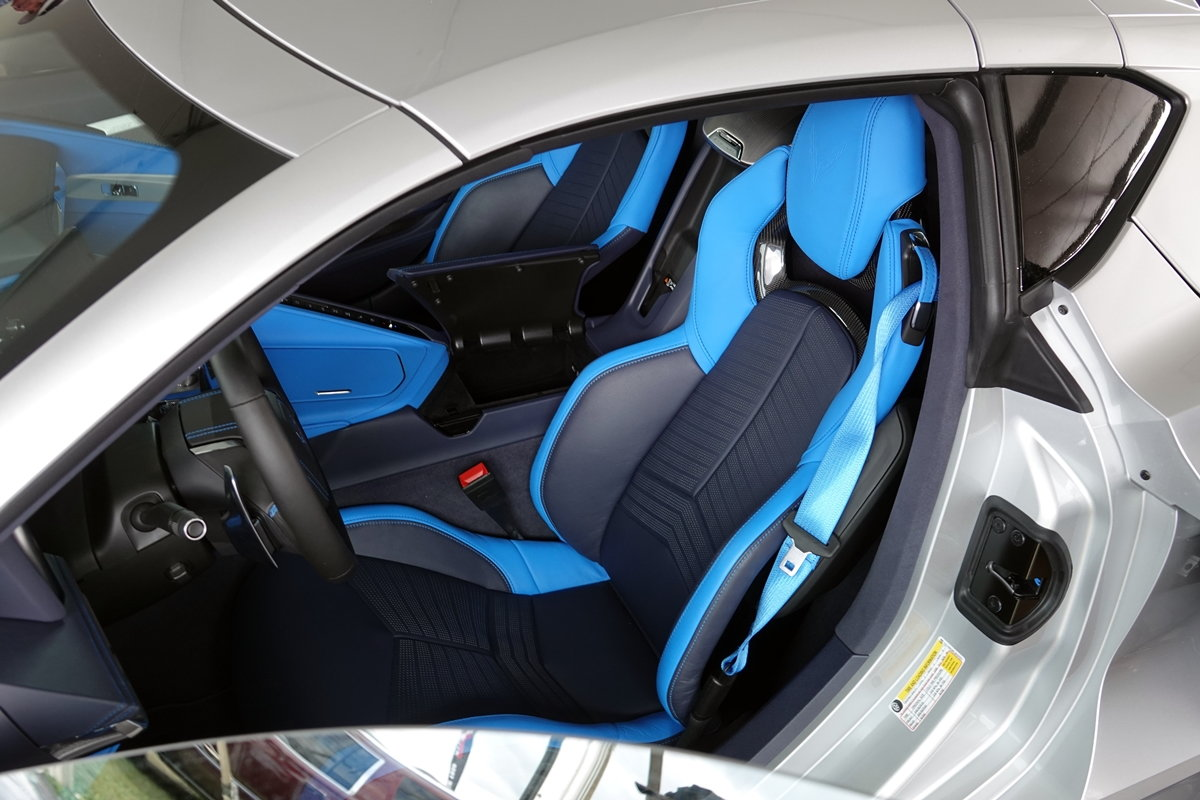 Up Close With Two Tone Blue Interior Pics