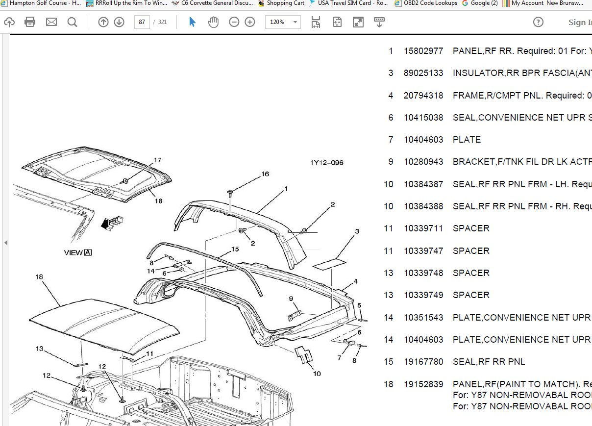chevrolet corvette parts diagrams html