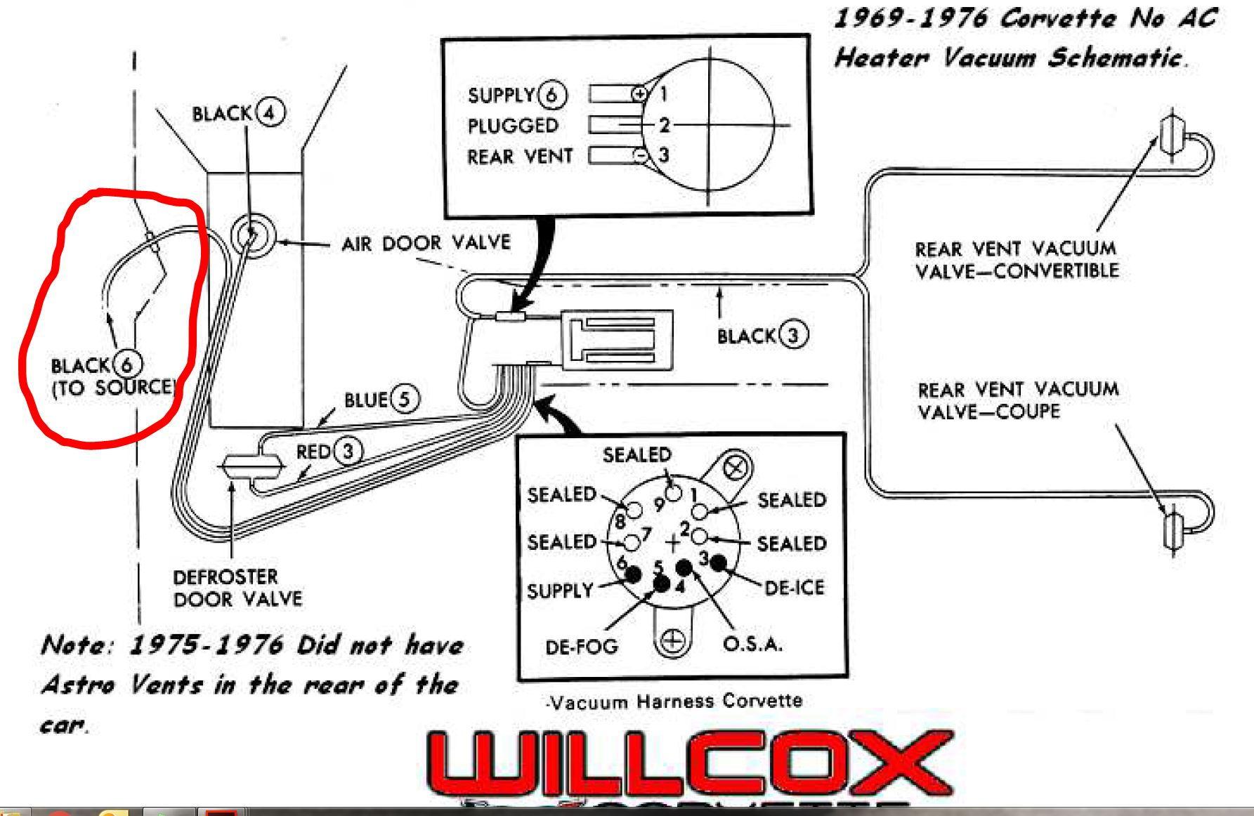 1969 - no ac, heater control vacuum source pic request