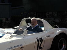 Me setting in the '63 Grand Sport #002. Phoenix, Arizona in January '09. This was at the Wheels of Wellness historic race car show.