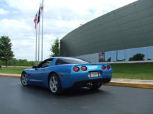 at the National Corvette Museum