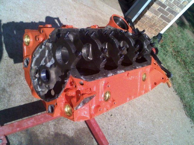 383 engine build for 1976 corvetteforum chevrolet corvette final paint brass freeze plugs malvernweather Choice Image