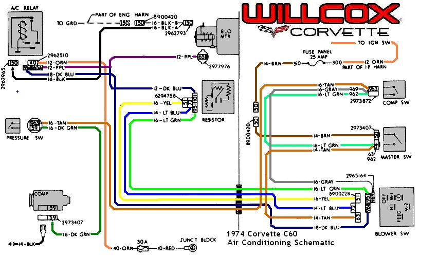 Corvette Corvette Air Conditioning Schematic C E F A C A B A E D B