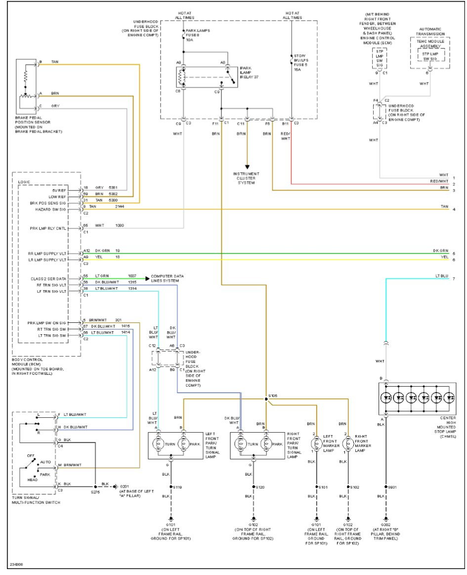 2006 Tail Light Wiring Diagram Needed