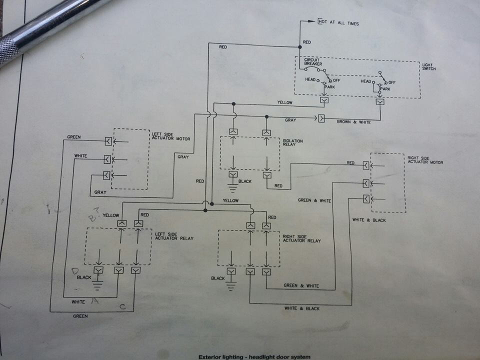 1985 Corvette Headlight Wiring Diagram
