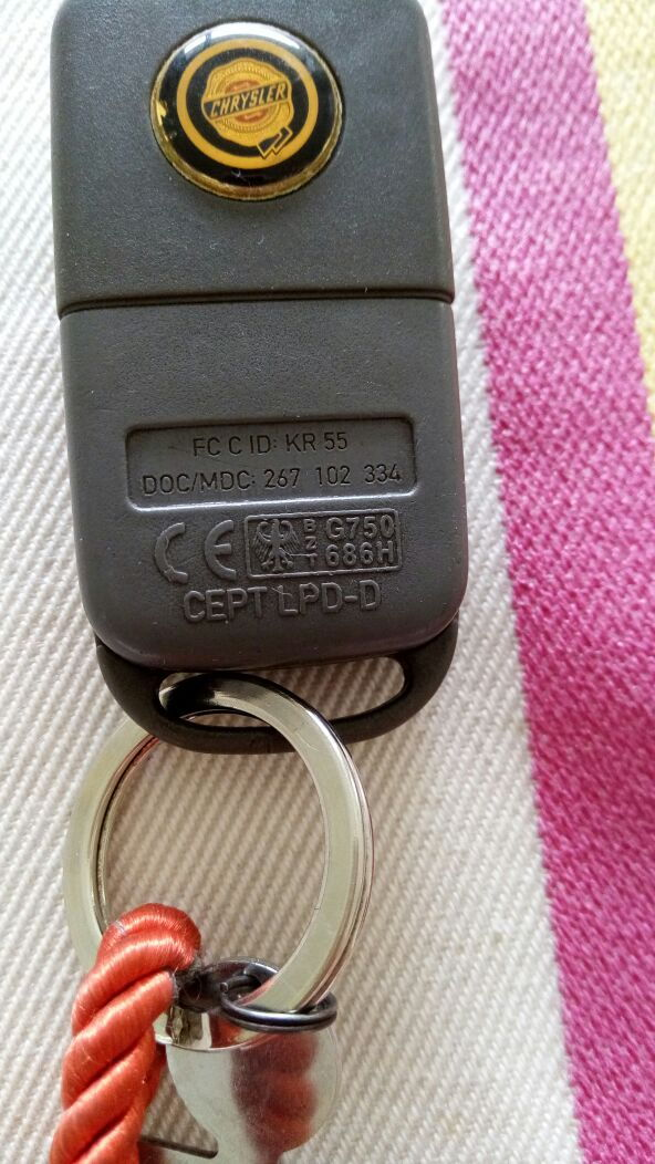 Replacement key fob, need help! - CrossfireForum - The