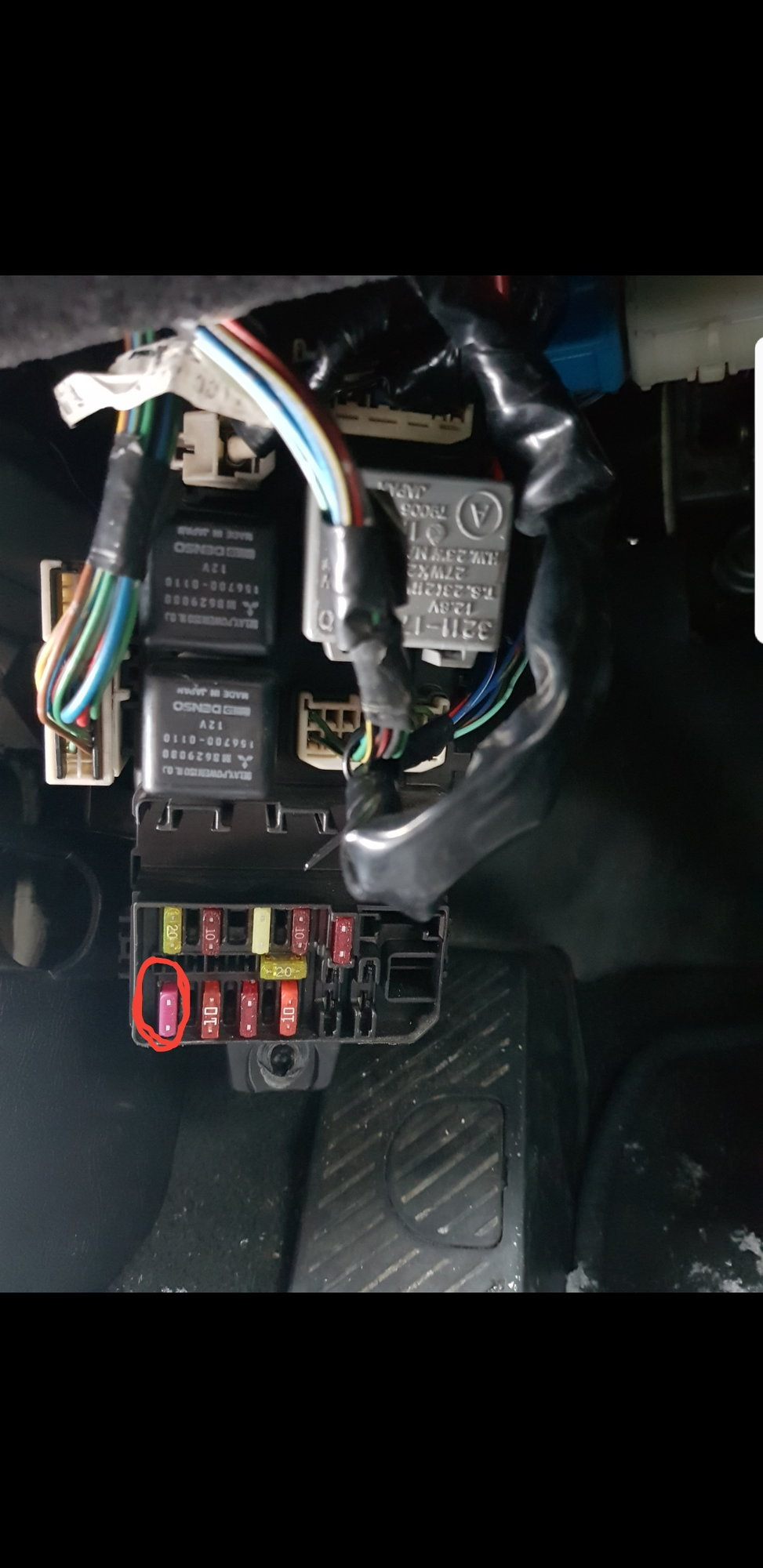 Popping Fuse And Car Wont Start Evolutionm Mitsubishi Lancer Aftermarket Auto Box It Is A 10amp In The Lower Left Corner Fusebox Under Dash Can Someone Please Tell Me What That Does