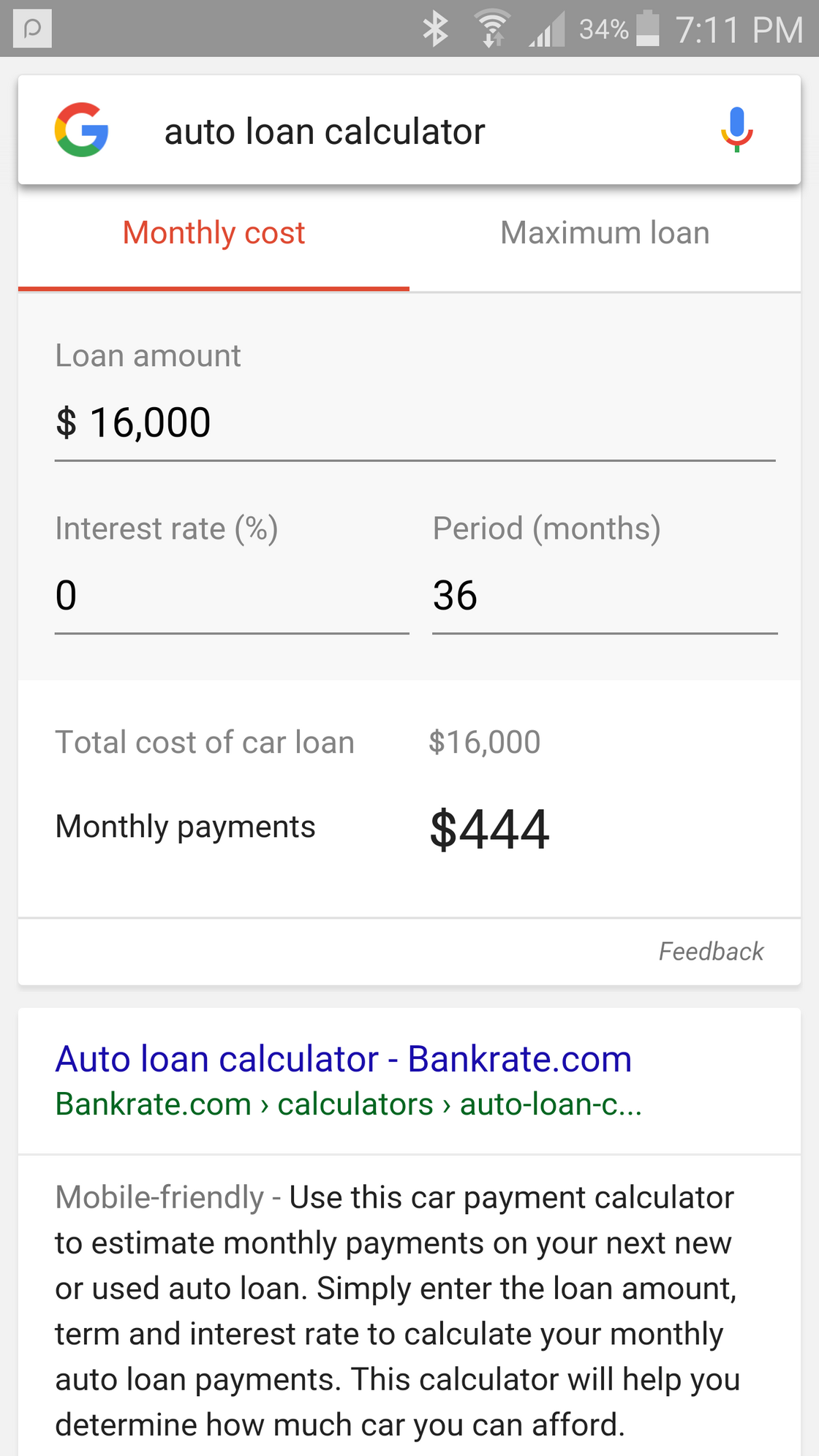 How Do You Figure Ll Have A Payment Under 100 Dollars Month On 3 Year Finance For 16 000