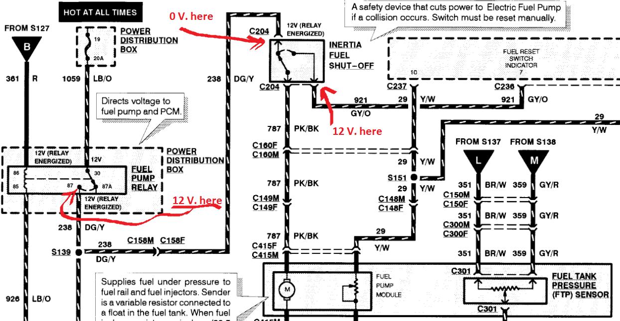1998 4 6l Fuel Pump Voltage Reading Low  - Page 2