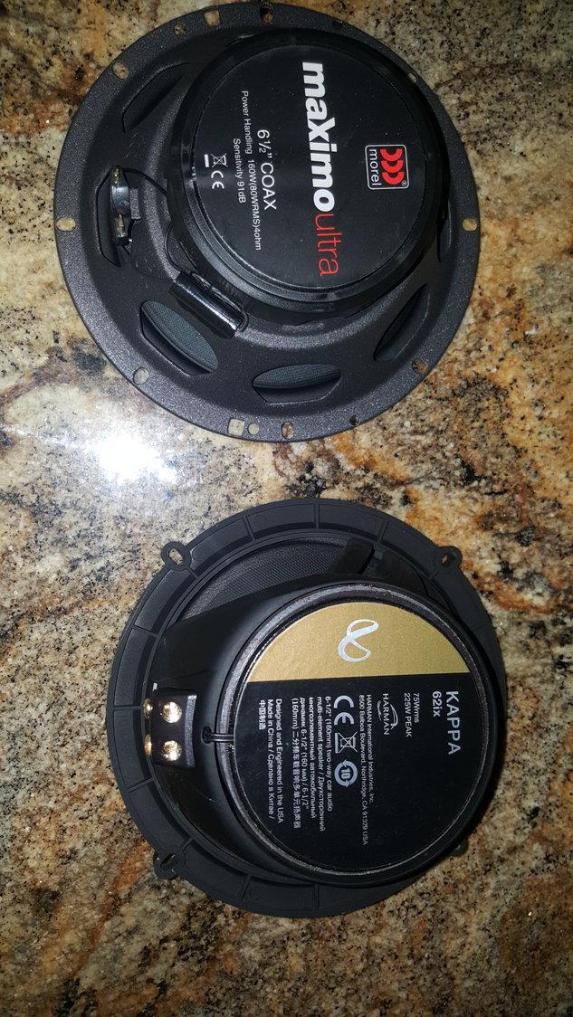 Infinity Kappa 62ix vs Morel Maximo Ultra 602 coax in rear