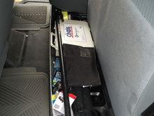 Diamond plate under rear seat organizer- $50 on CraigsList