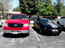 My truck and mustang 2