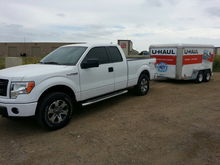My 2013 STX pulling my UHaul out to Utah