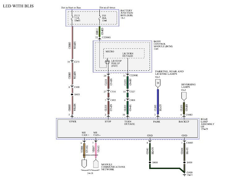 led  u0026 bliss tail light wiring diagram