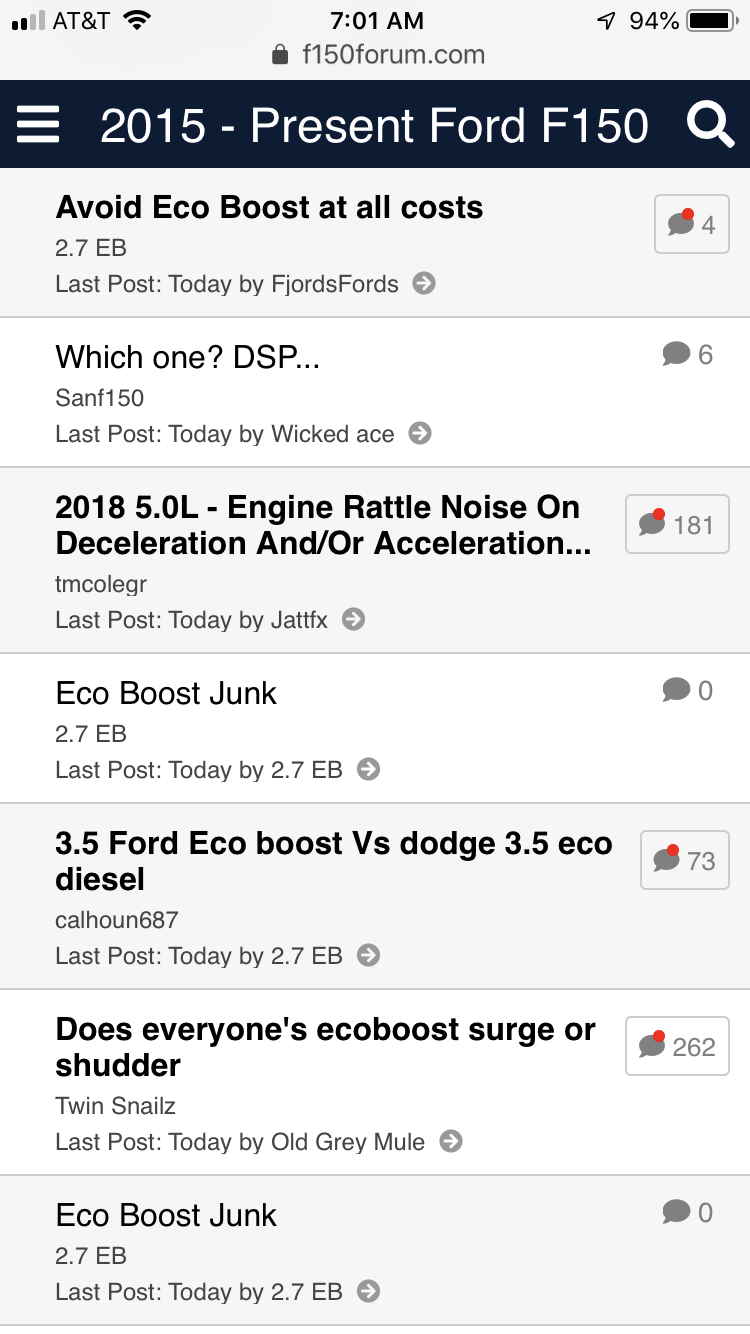 Avoid Eco Boost at all costs - Ford F150 Forum - Community