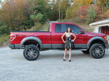 dev with daddy's  truck on homecoming