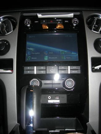 F150 HU install completed with main menue screen shot.