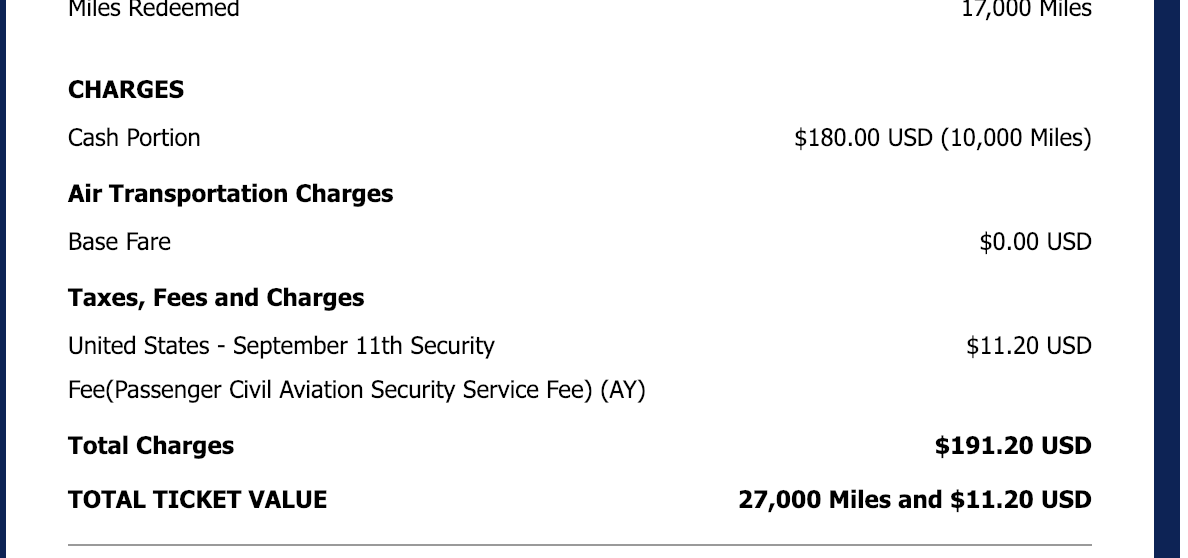 can someone explain this cash miles receipt to me flyertalk forums