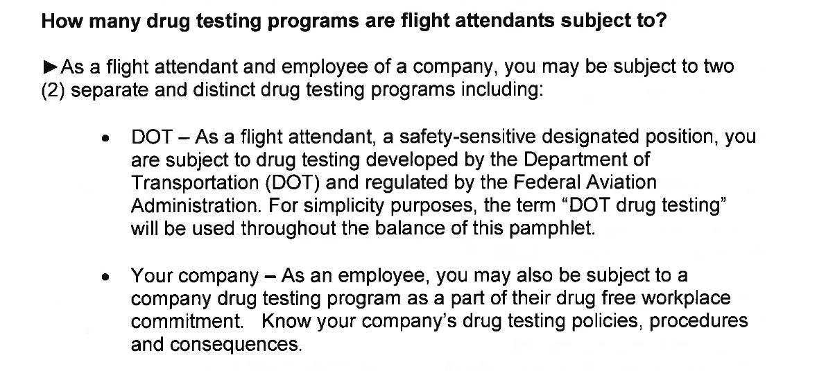 Drug testing FAs - FlyerTalk Forums