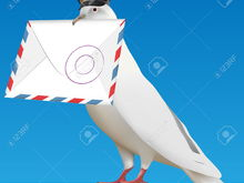 6556480 white carrier pigeon with pilot cap and letter Stock Vector dove (1)