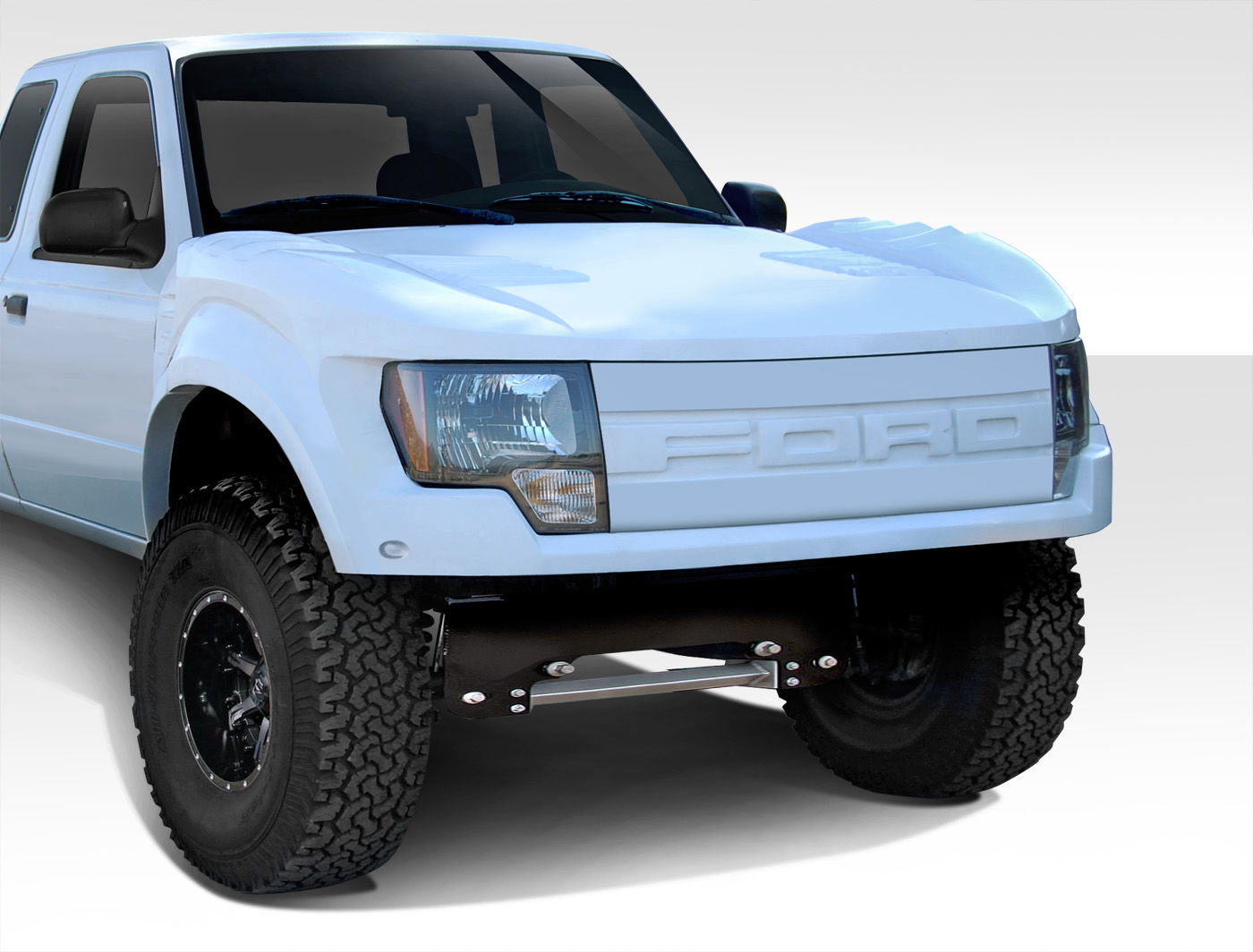 Ford Ranger To Raptor Conversion Kit >> New Duraflex Part - 93-11 Ford Ranger Off Road Raptor Front End Conversion Now Available - Ford ...