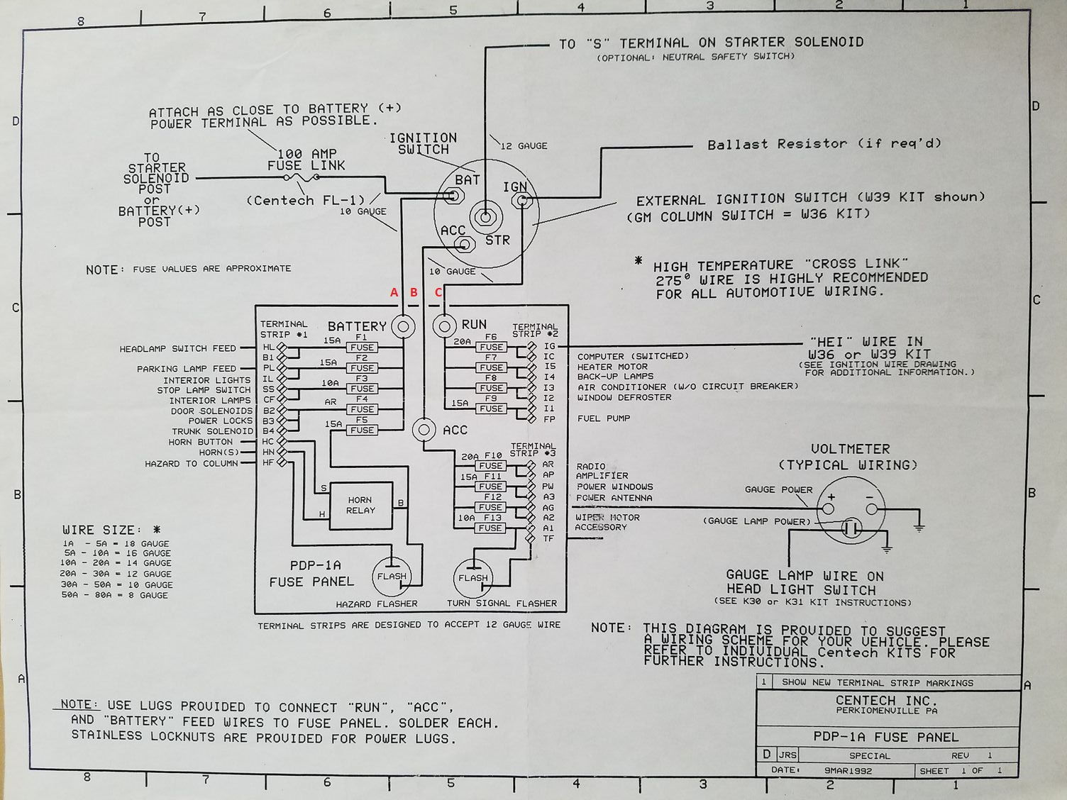 Centech Fuse Box Great Design Of Wiring Diagram 4 Electronic Ignition Ford Truck Enthusiasts Forums Panel Install Page 2 Cen Tech Digital Multimeter