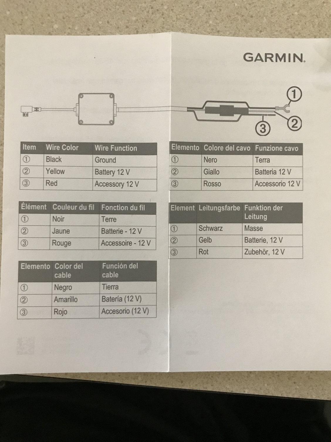 Wiring Garmin Parking Mode Dashcam Wire To Upfitter Switches
