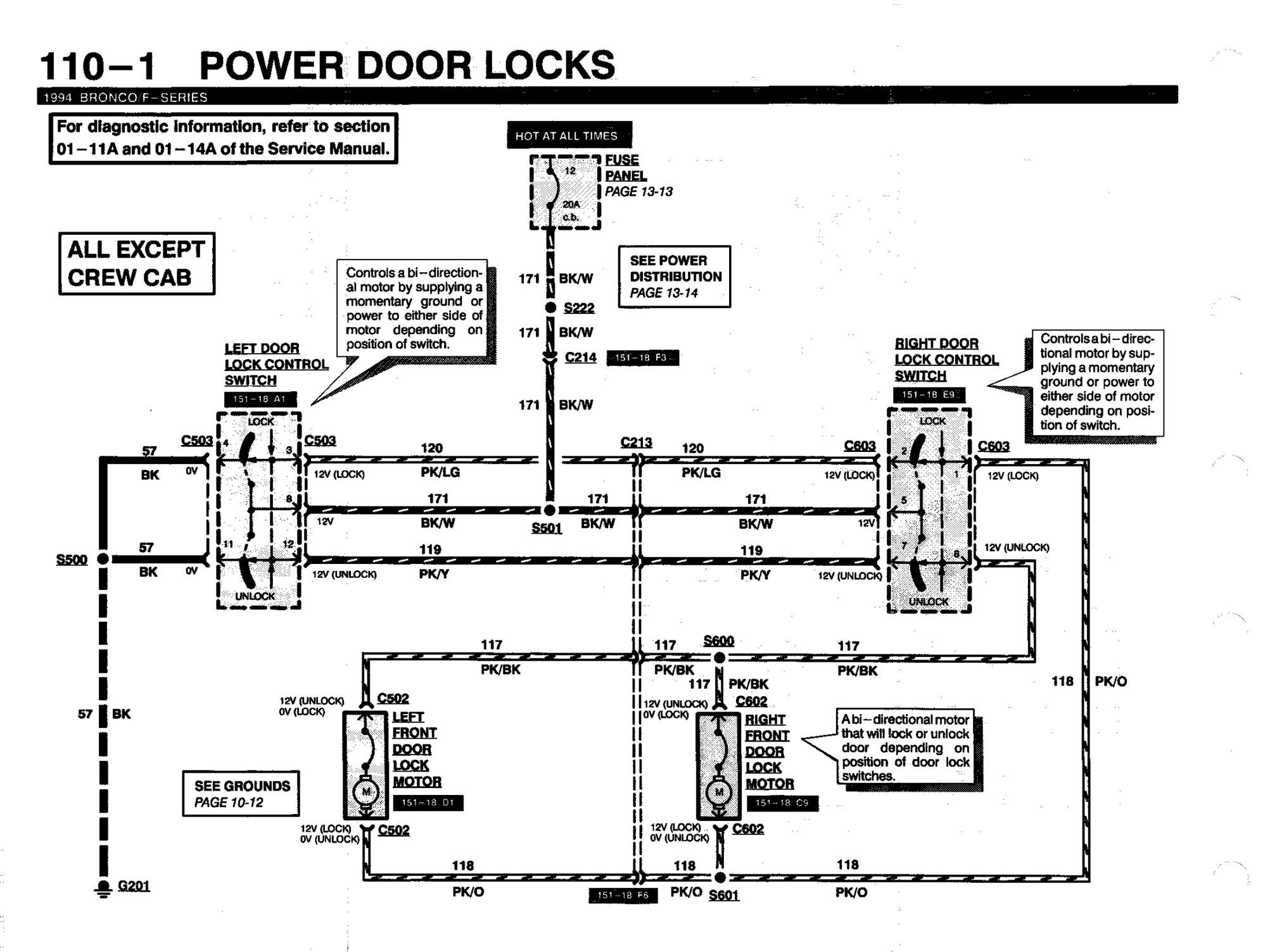 Power Door Locks 94 F250