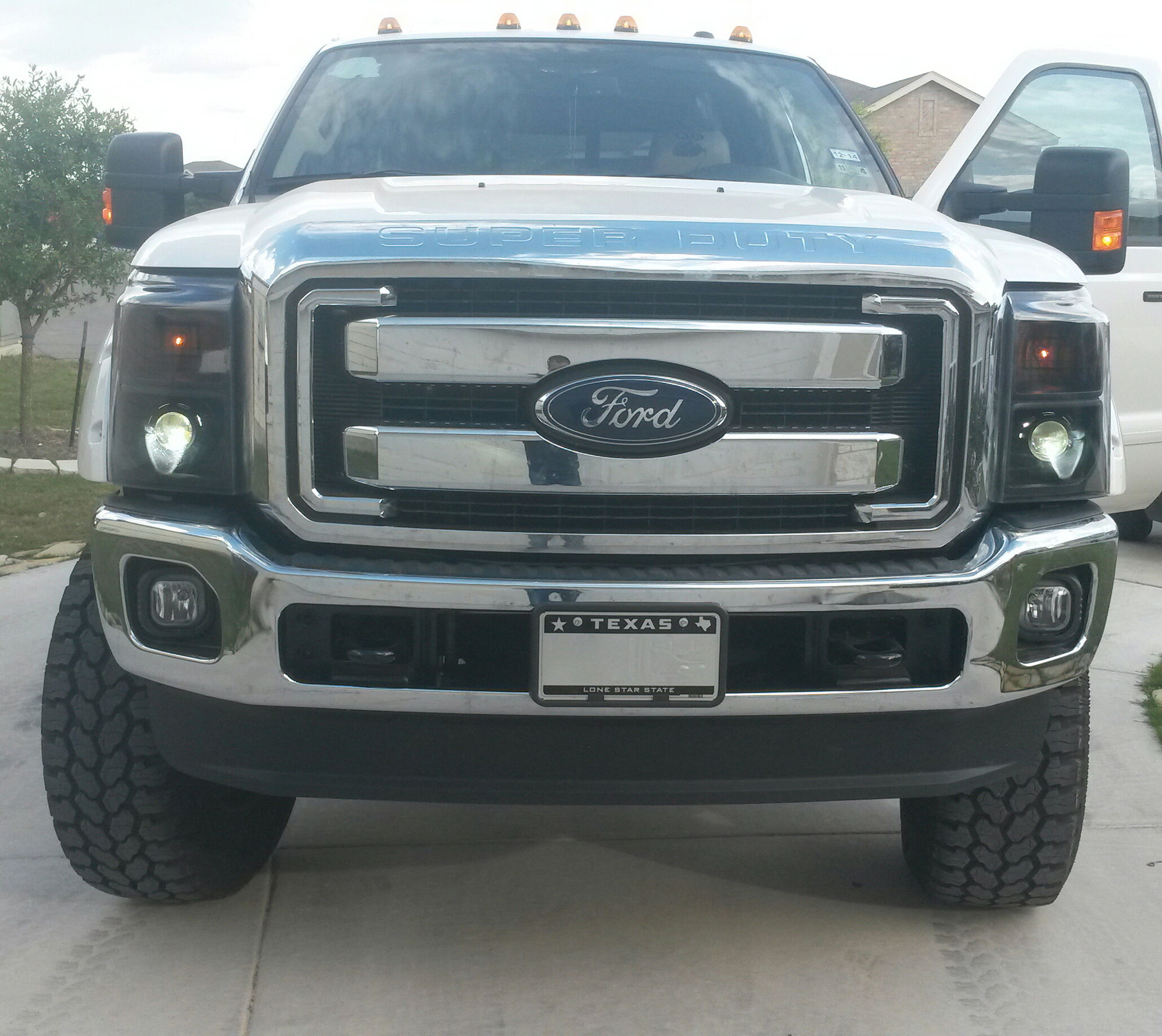 Check Out My Custom Retrofit Headlights On My 2014 Ford