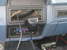 My new CB and repainted radio bezel from an XLT, I'm going to replace it with a correct one soon