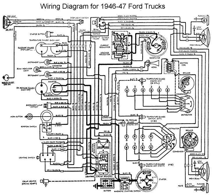 wiring diagram 1946 - ford truck enthusiasts forums 1948 ford 8n tractor wiring diagram 1948 ford truck horn wiring diagram