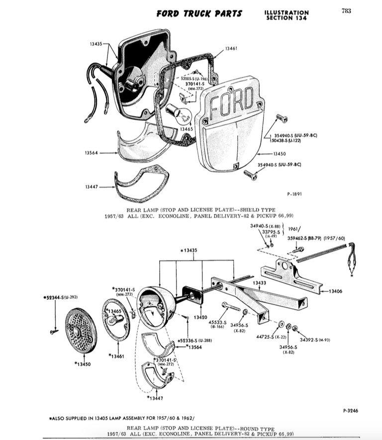 1959 F100 Tail Light Assembly