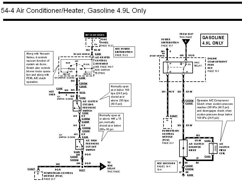 96 f150 ac compressor issue ford truck enthusiasts forums 1995 ford f-150  wiring diagram