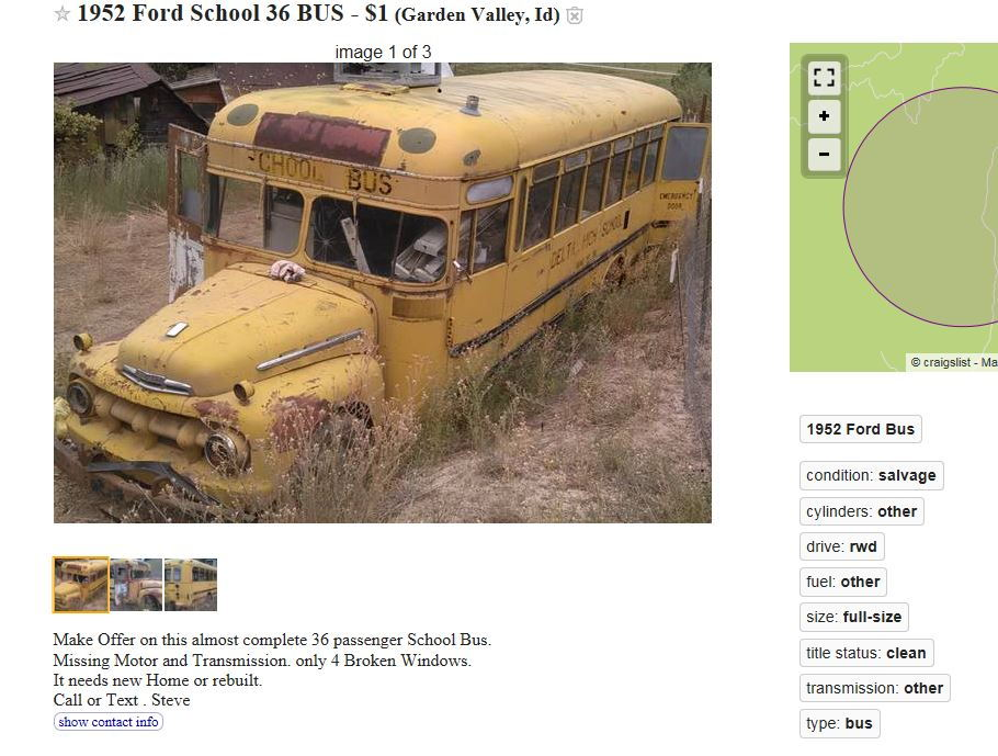 1952 Ford School Bus - CL - Ford Truck Enthusiasts Forums
