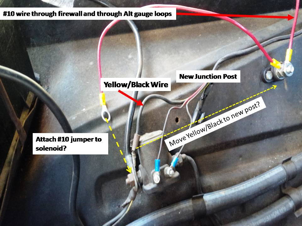 alternator gauge wiring help