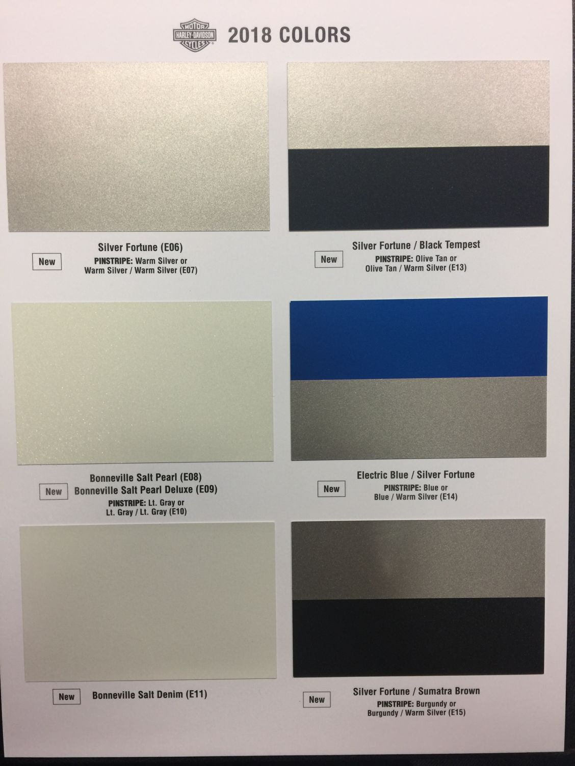 harley davidson colors codes