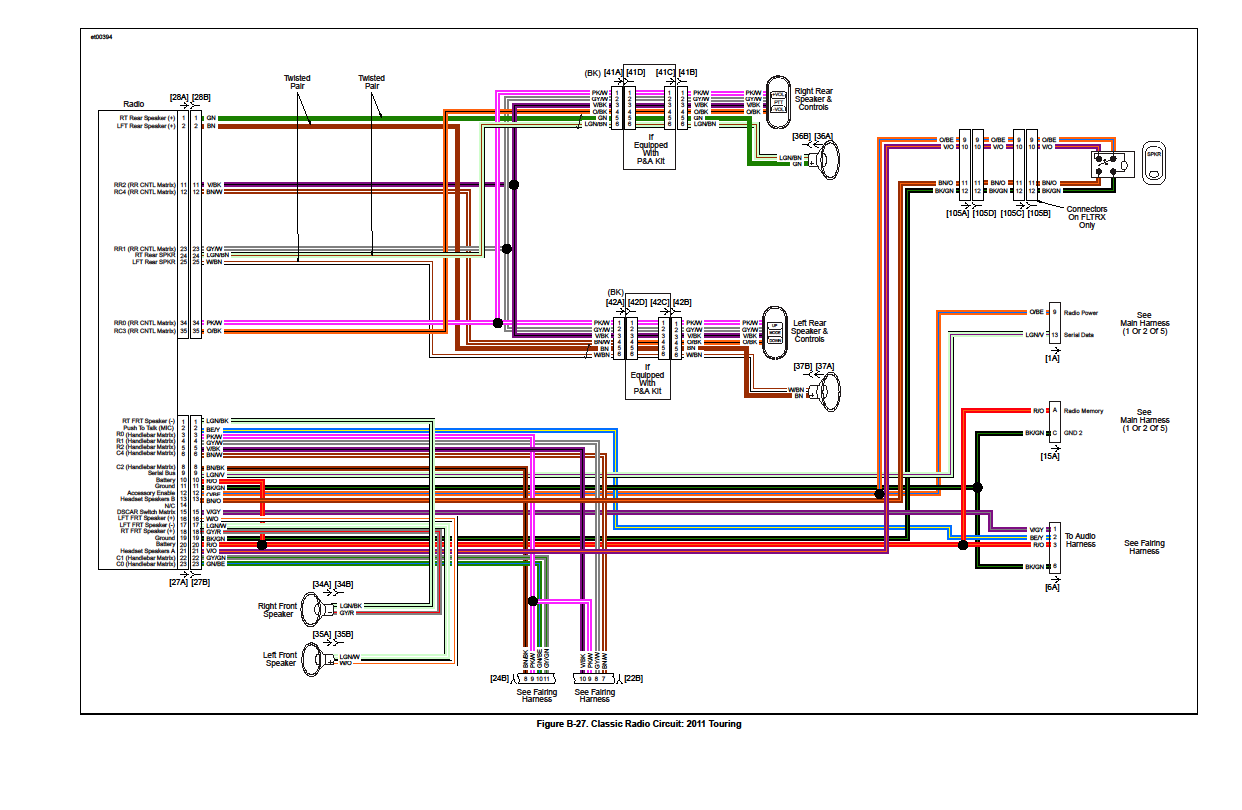 Harley Davidson Wiring Help Diagram Will Be A Thing Diagrams Free Rear Speakers Output From Stock Hd Radio Page 3 1997