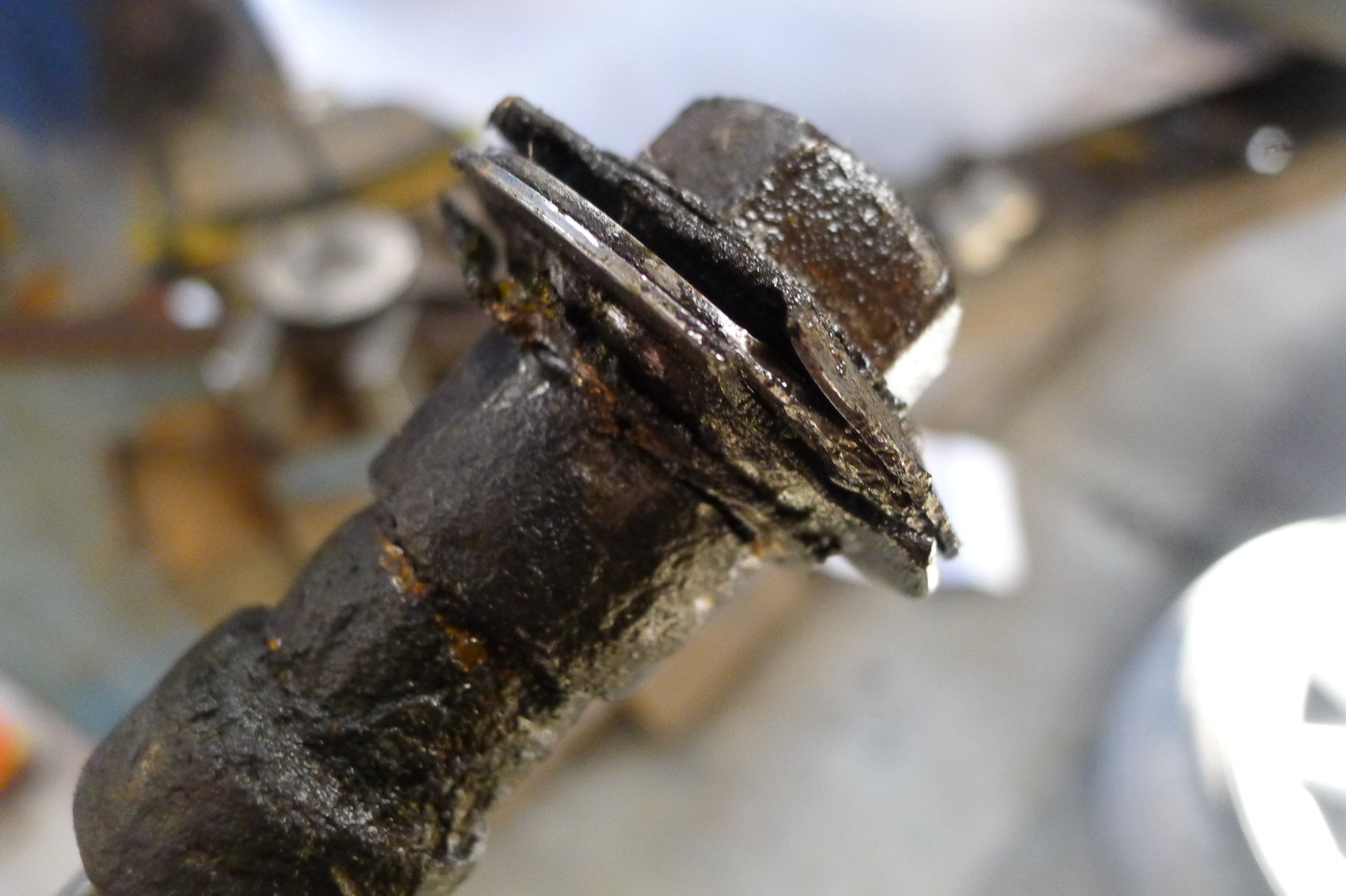 Help - Upper Wishbone bolt stuck - Jaguar Forums - Jaguar
