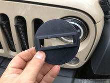 3D printed black out turn signal covers