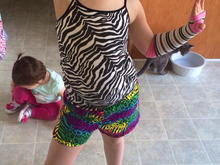 This is how my kid goes to dance class... HAHAHA!