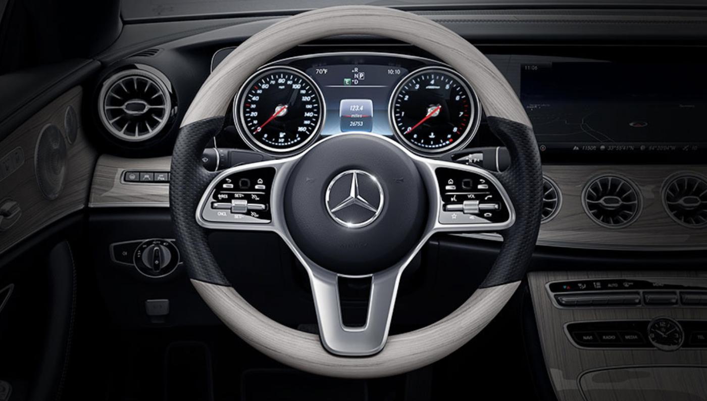 Mercedes W203 Sport Steering Wheel Burl Walnut Wood
