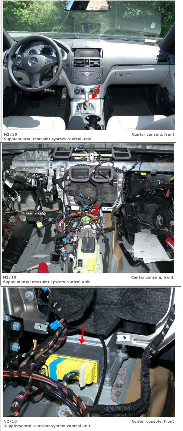 Airbag Module Removal Replacement And Location Mercedes W163