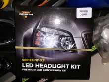 Did alot of research and decided to go with AuxBeams LED bulbs (H11). Hopefully they last!