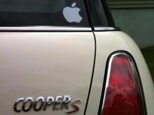 mini apple sticker