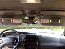 OHC, Lighted Dual Visors and Auto-Dim Rear View Mirror installed.