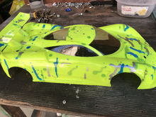 I had a lot of complements on this body at the track. I had fun painting this body and racing something I could see. I think I will take having fun over a realistic paint job any day.