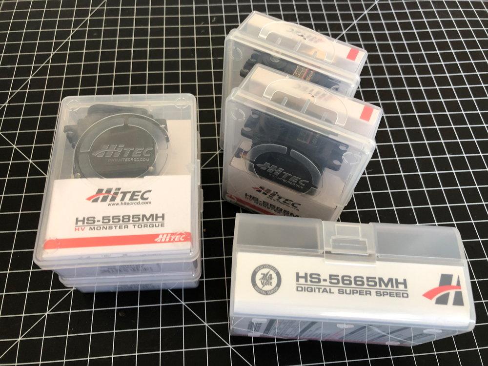 NIB Hitec HS-5585MH and HS-5565MH Servos - RCU Forums